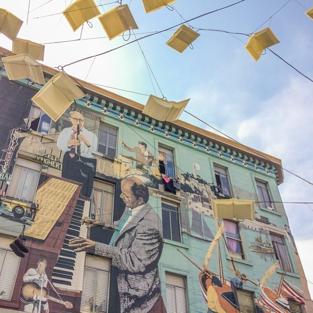 My favorite mural in #sanfrancisco. Complete with flying books.