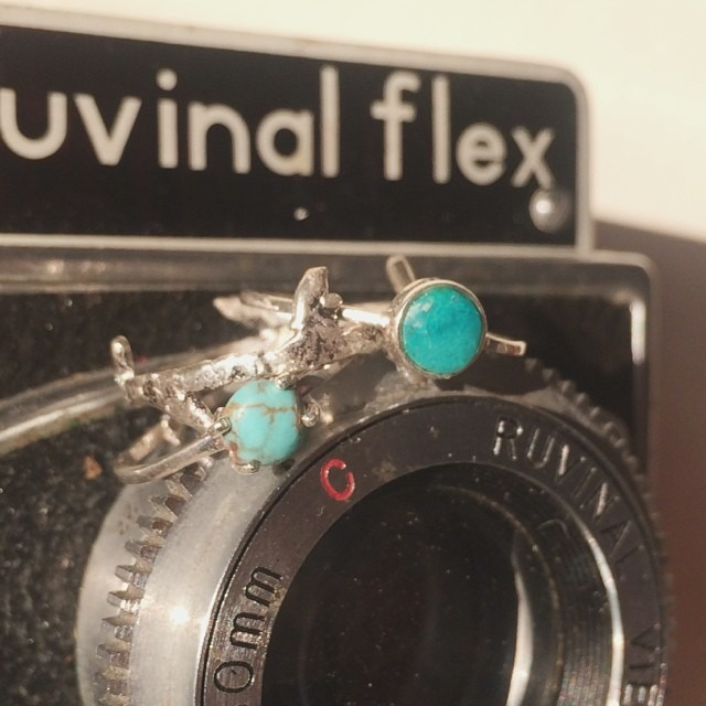 These new handmade silver and Peruvian turquoise rings are waiting to be stacked on your finger. Link in profile to buy!