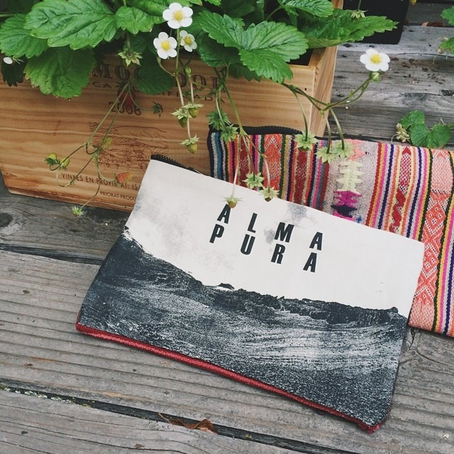 New clutches in the shop! Peruvian textile mixes with modern imagery to hold all your goodies for a night on the town. Alma Pura // Pure Soul