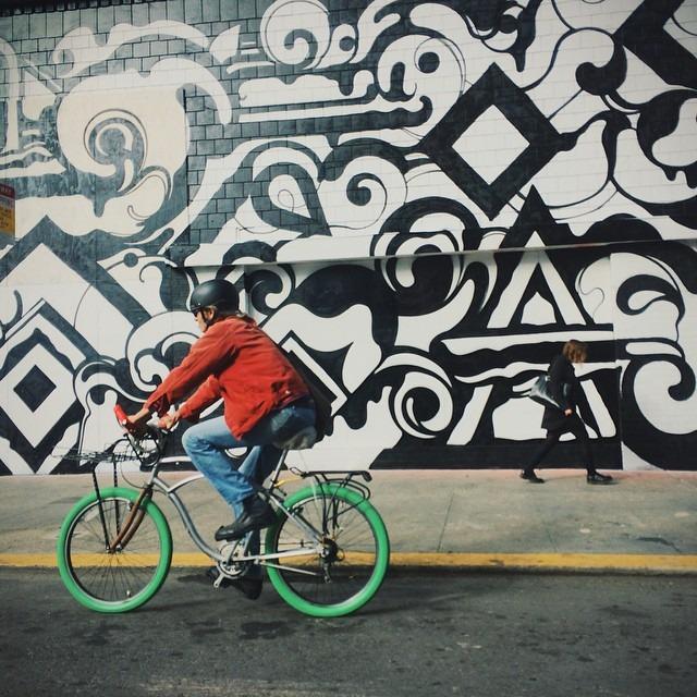 Artful biking. #myartfulventure #streetart