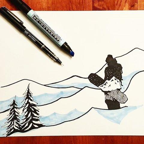 Snowy art start the year by @wboersma #artfulventure