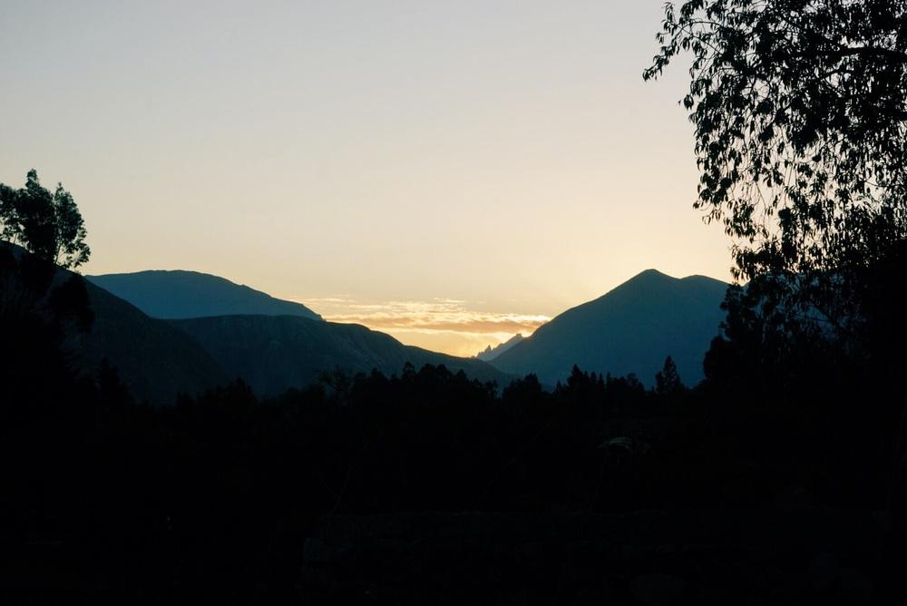 Sunset from the Sonesta Posadas