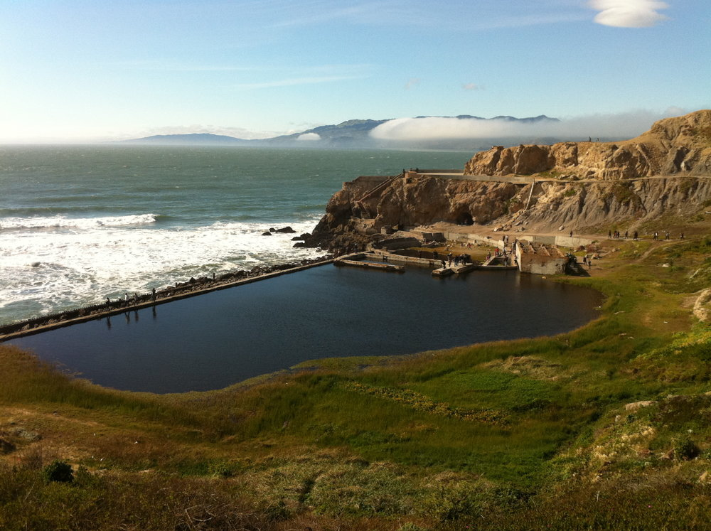 The Sutro Baths ruins (located on the North end of Ocean Beach)
