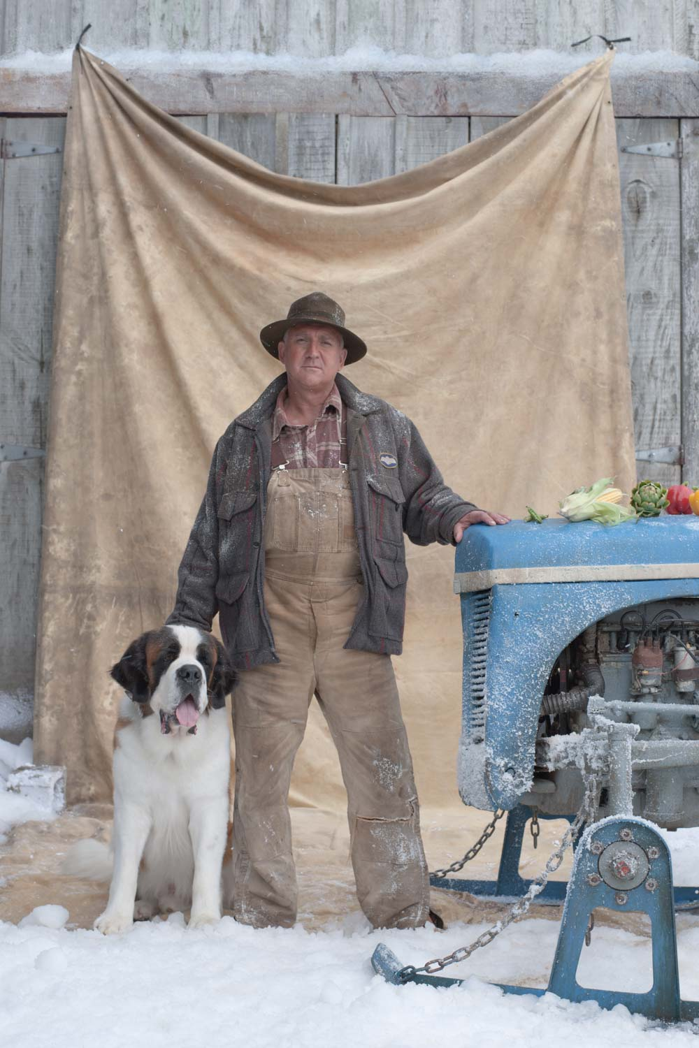 Farmer with a Dog