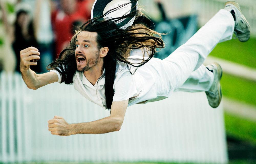 Joe Lonie Diving For A Cricket Ball