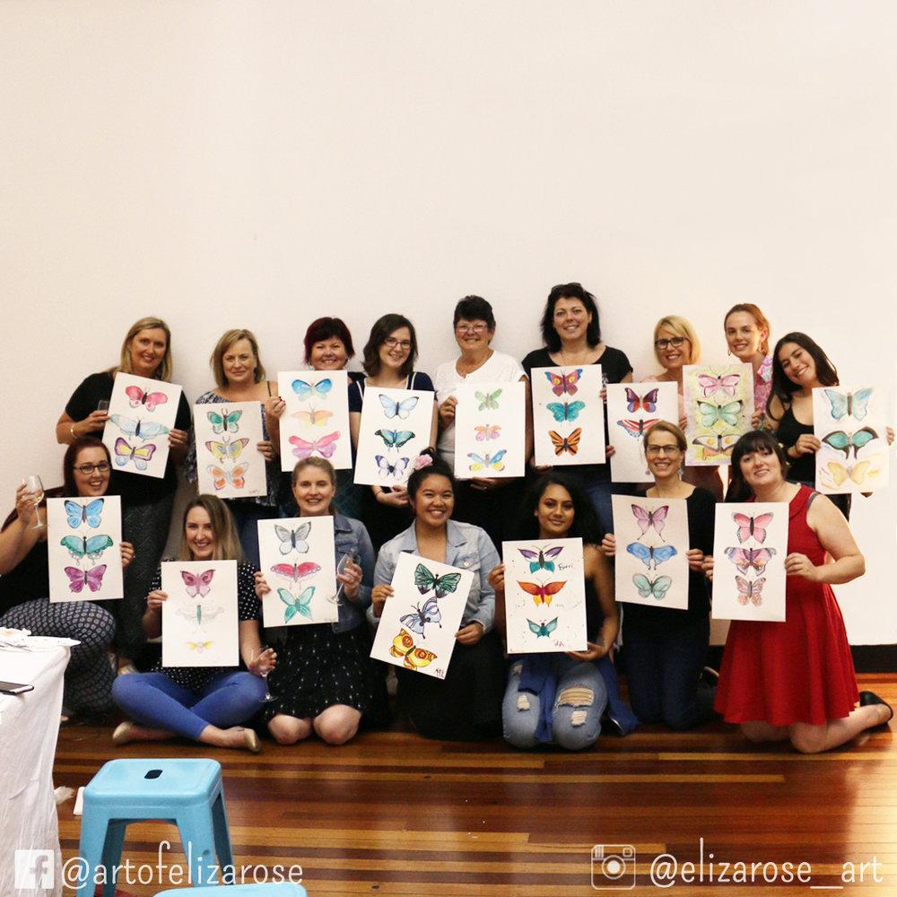 Watercolour and Wine - Butterflies 1 Group Shot.jpg