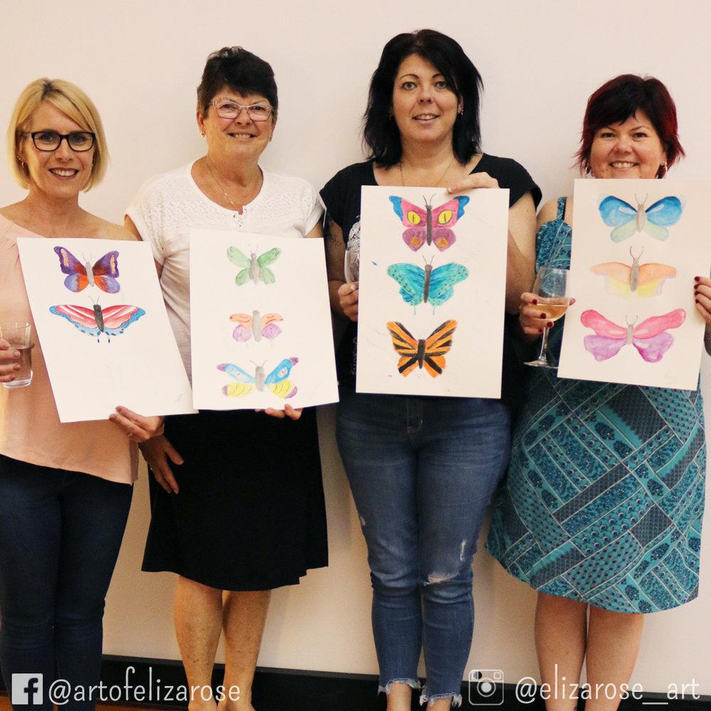 Watercolour and Wine - Butterflies 6 Kylie Janette Peta Leonie.jpg