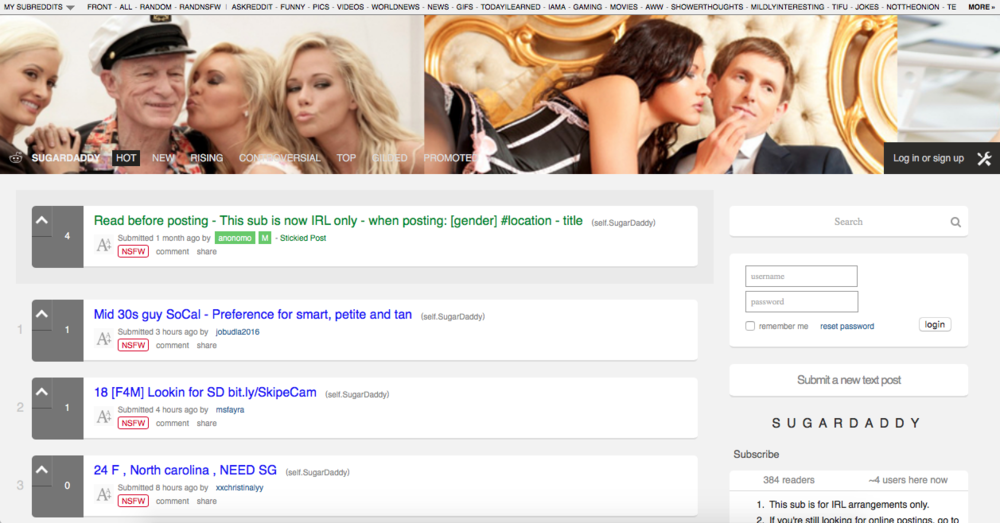 how to find a sugar daddy reddit