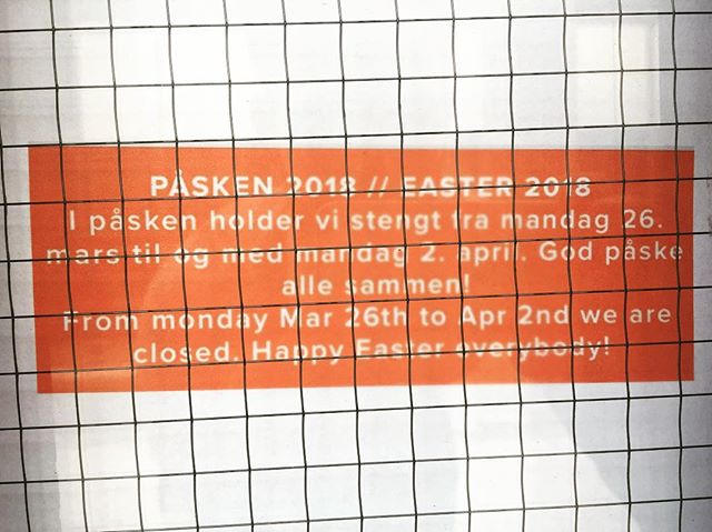God påske alle❤️🐣 We're taking a few extra days off this easter🙂