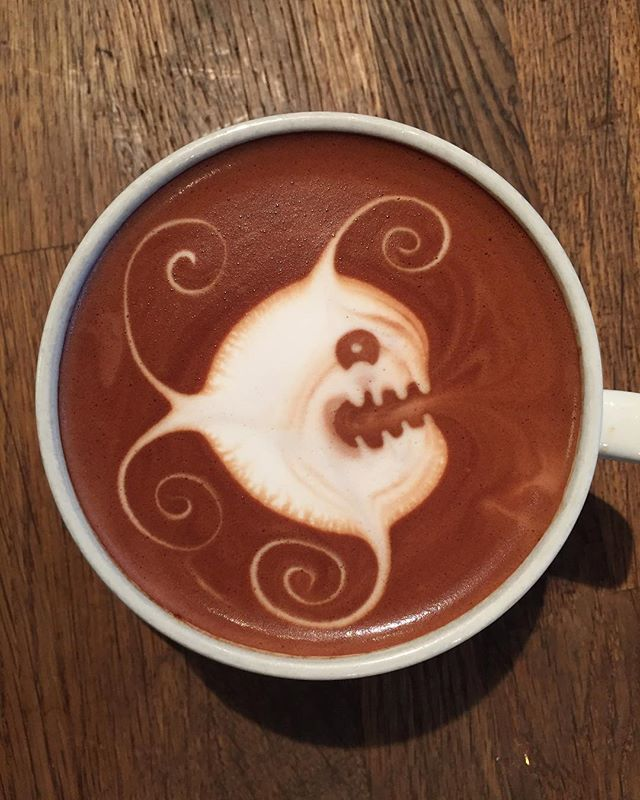 #artwork#latteart#🐠#coffee#tromsø