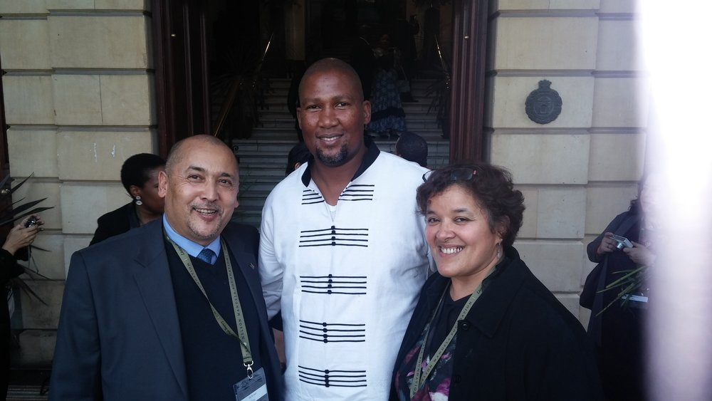 With Chief Mandla Mandela at the City Hall in Cape Town sometime in 2014.