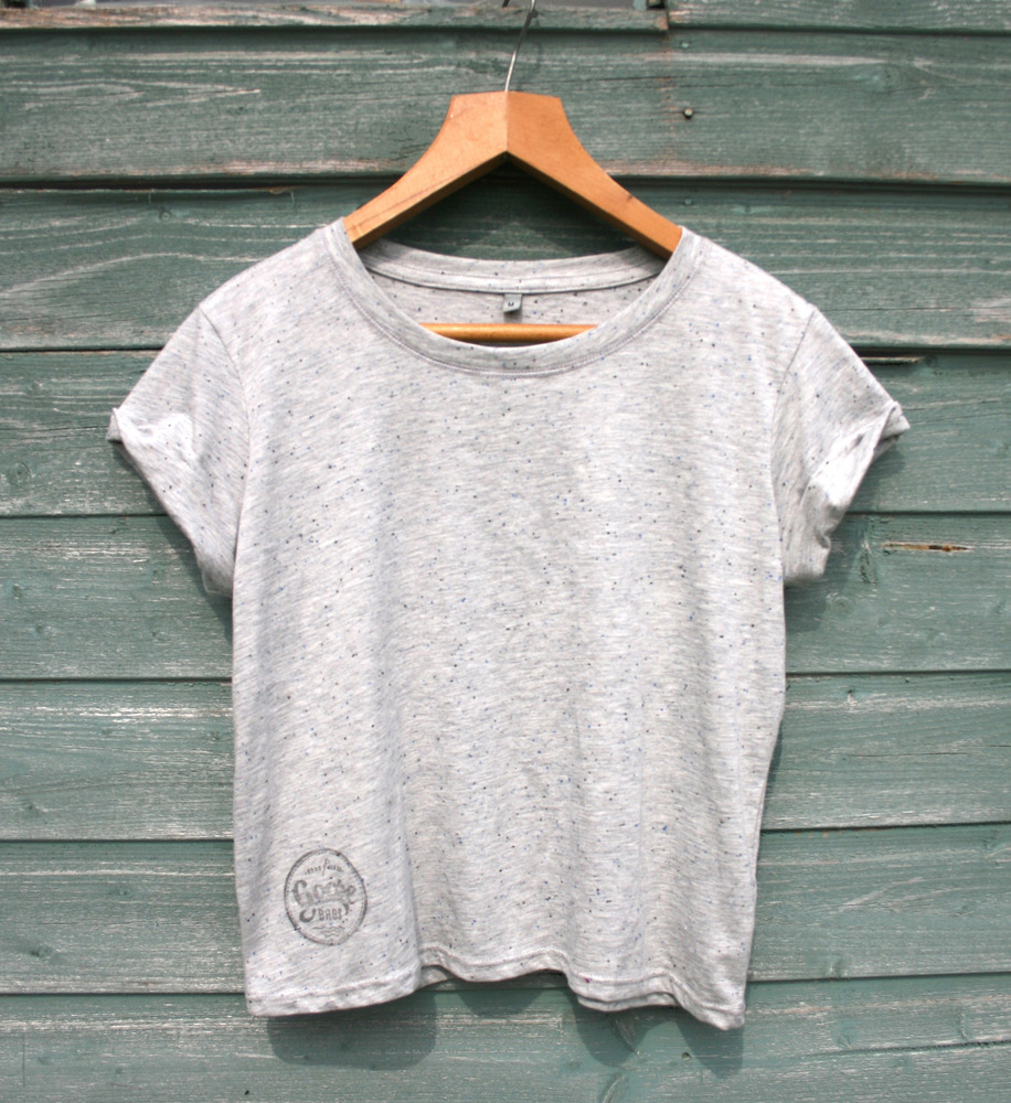 Goose Bags women's Grey Speckled t-shrit