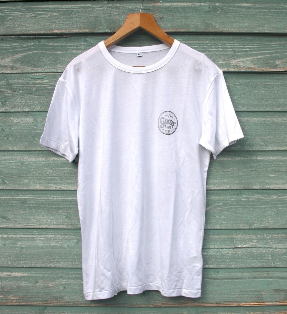Men's/Unisex White Bamboo T-Shirt