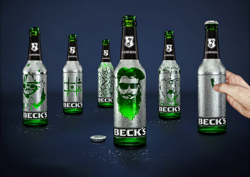 Becks scratchbottle limited edition