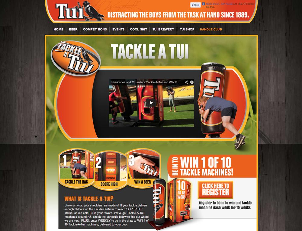 Tui Brewery  Website (Tackle-a-Tui)
