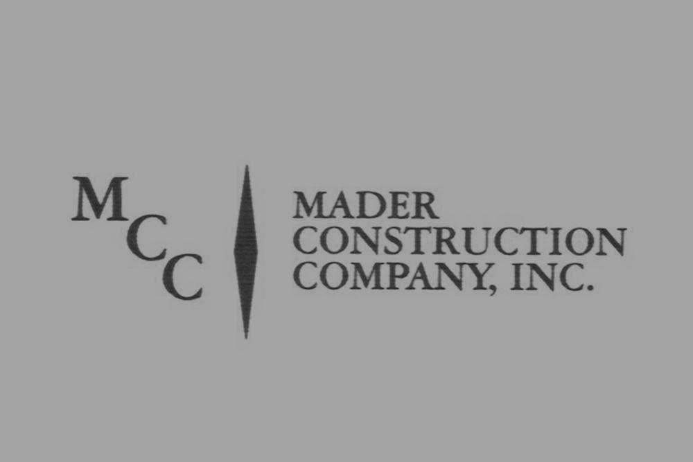 GOLD SPONSOR  Mader Construction