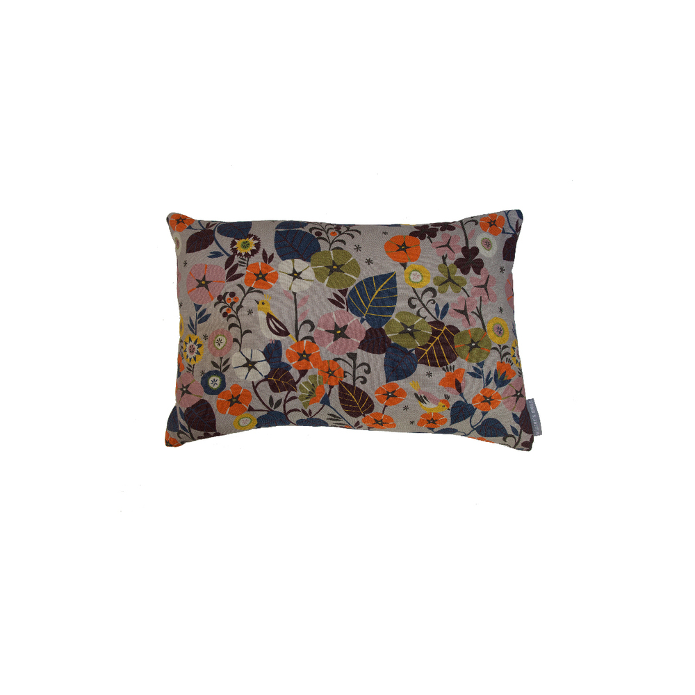 Nasturtium Fabric Cushion with  Winter's Moon    © Brie Harrison 2014