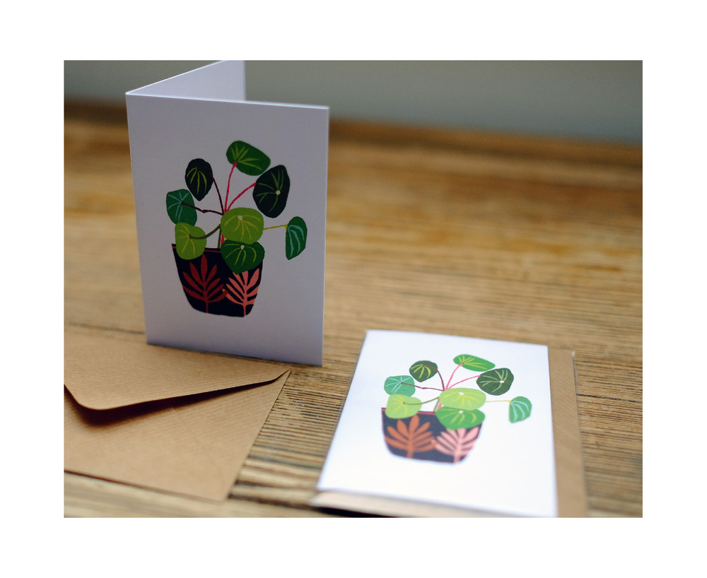 Pot Plant Folding Card   © Brie Harrison 2015