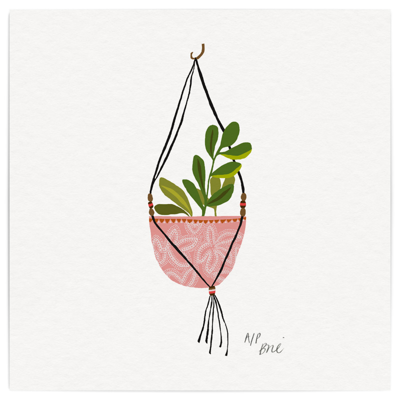 Jade Basket Giclée Print on Archival Paper Edition of 40, signed 20 x 20cm Unframed   Edition sold   £34   © Brie Harrison 2016