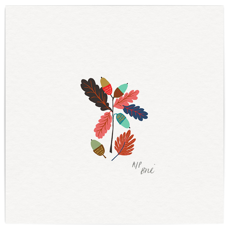 October Giclée Print on Archival Paper Edition of 20, signed 20 x 20cm Unframed   Edition sold   one left £34   © Brie Harrison 2015