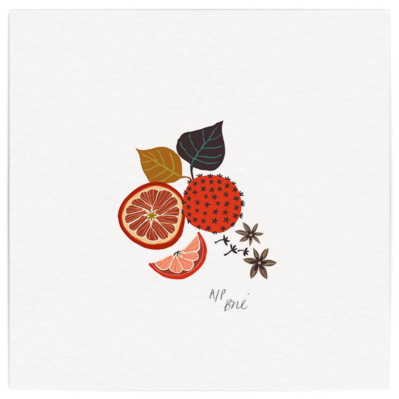 December Giclée Print on Archival Paper Edition of 20, signed 20 x 20cm Unframed  £34   © Brie Harrison 2015