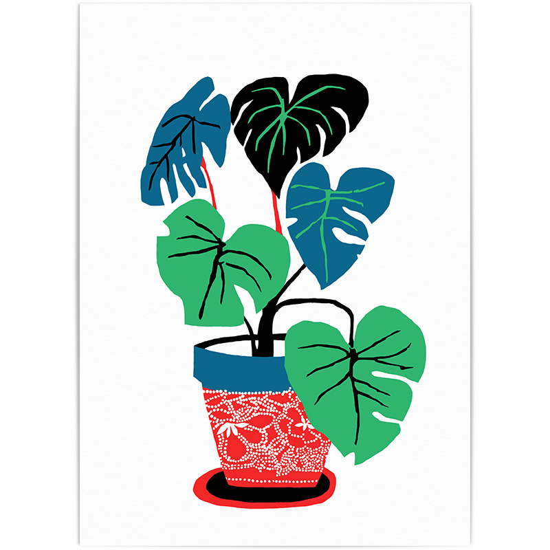 Fruit Salad Plant 4 Colour Screen Print Edition of 60, signed A2 Size £ 70, Unframed   © Brie Harrison 2016