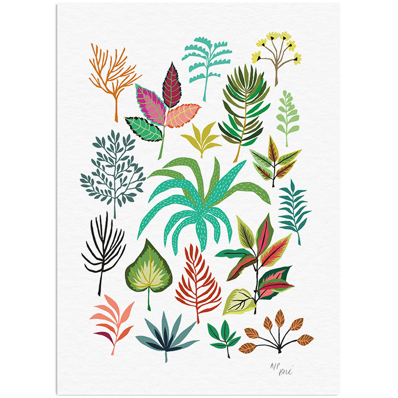 Leaf Study Print Giclée Print on Archival Paper Edition of 100, signed A3 Size  New  £48 Unframed   © Brie Harrison 2016