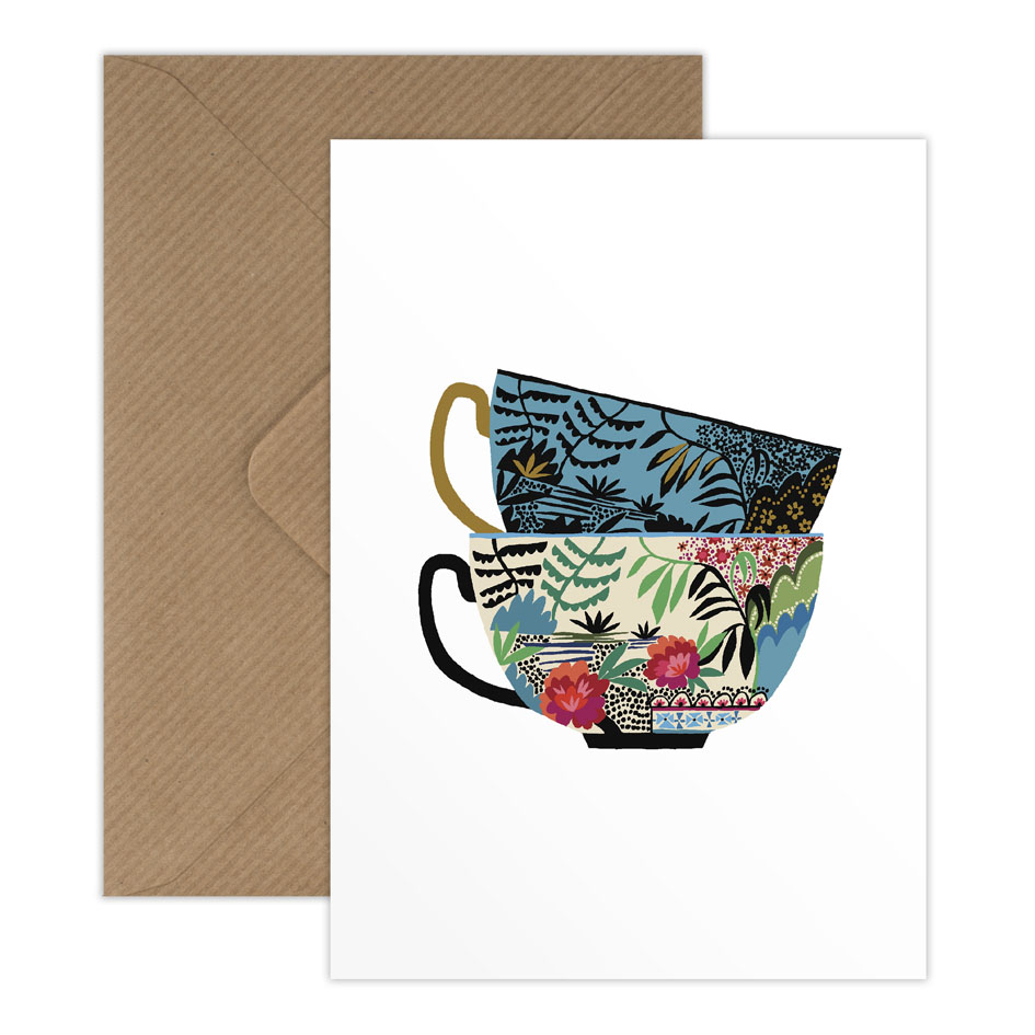 Willow Cups greetings card