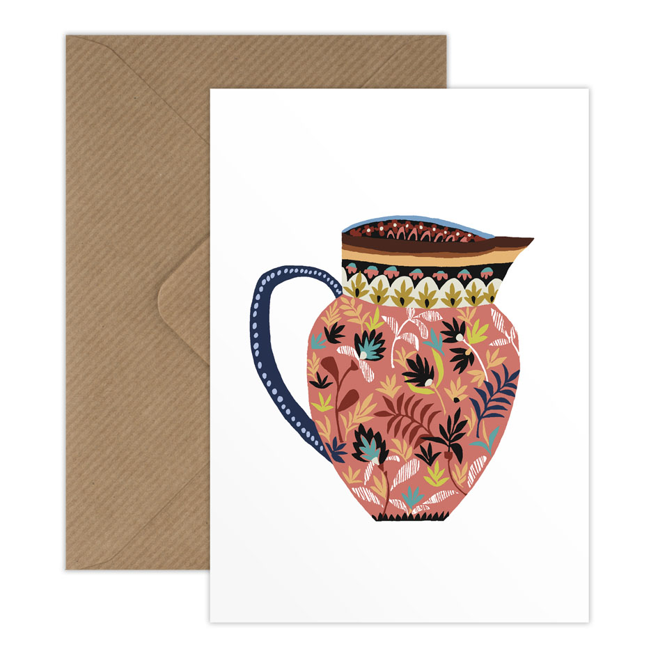 Museum Jug greetings card
