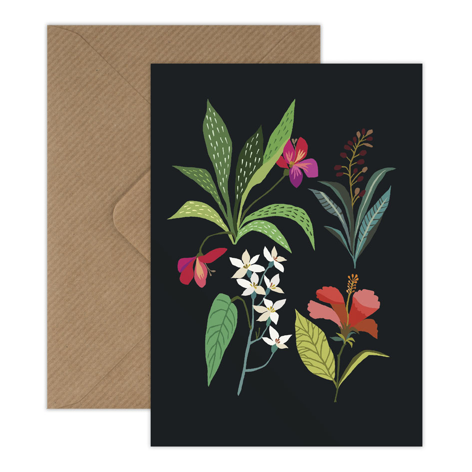Tropical Study greetings card