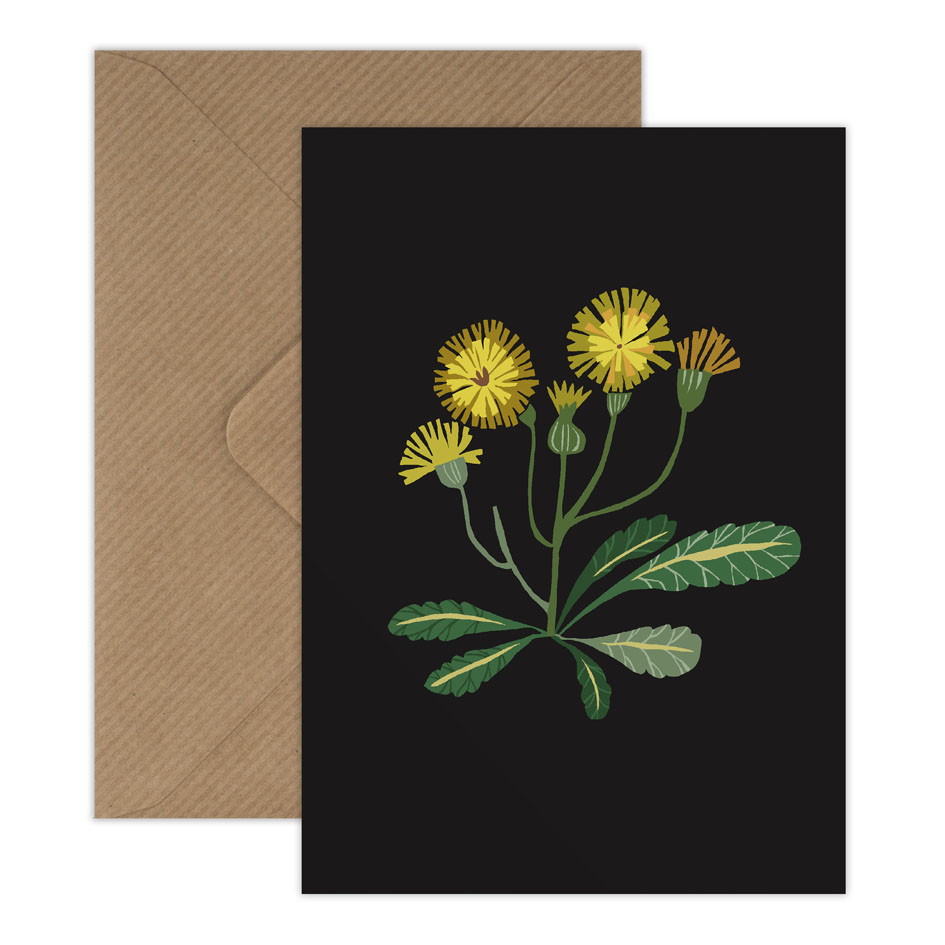 Dandelion single postcard with envelope