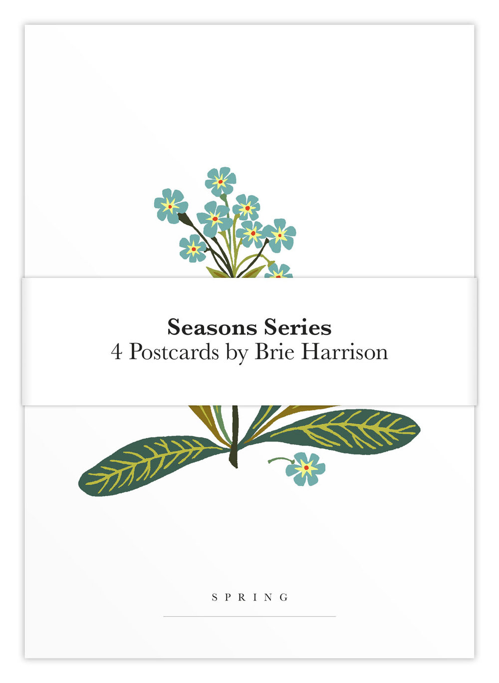 Season's series art post card set