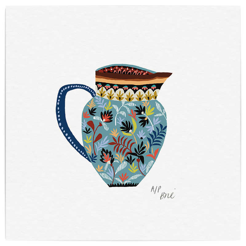 Museum Jug Giclée Print on Archival Paper Edition of 40, signed 20 x 20cm Unframed  New  £34   © Brie Harrison 2016