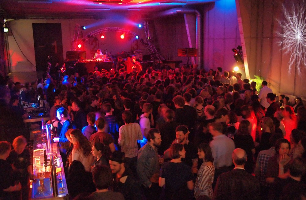 Full House for the Classical Music Rave in the Loading Dock of the Muziekgebouw aan't IJ.