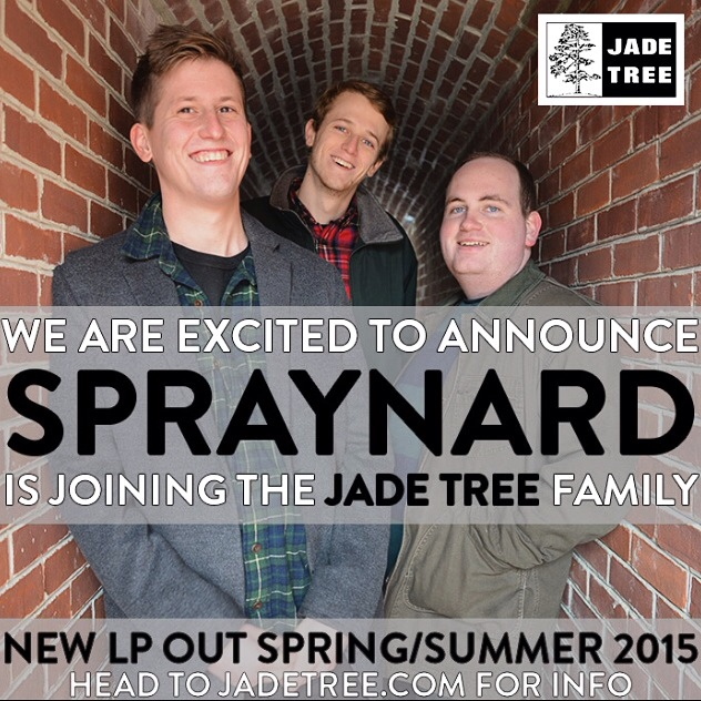 spraynardband :   Hey world.    We've signed to Jade Tree, and will have a new LP out this summer. I can't believe this is happening. More details soon 😁😁😁.