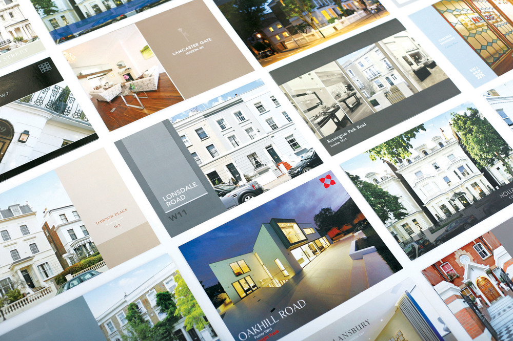 A spread of Dowling Jones Designs Favorite Bespoke brochures