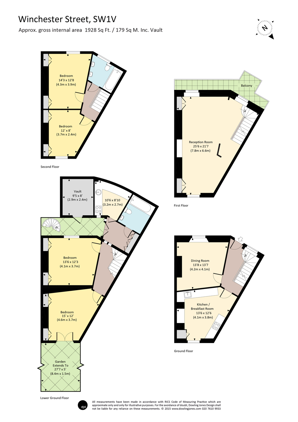 dowling jones winchester street colour floor plan