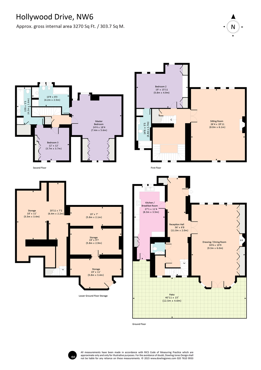 dowling jones hollywood drive colour floor plan