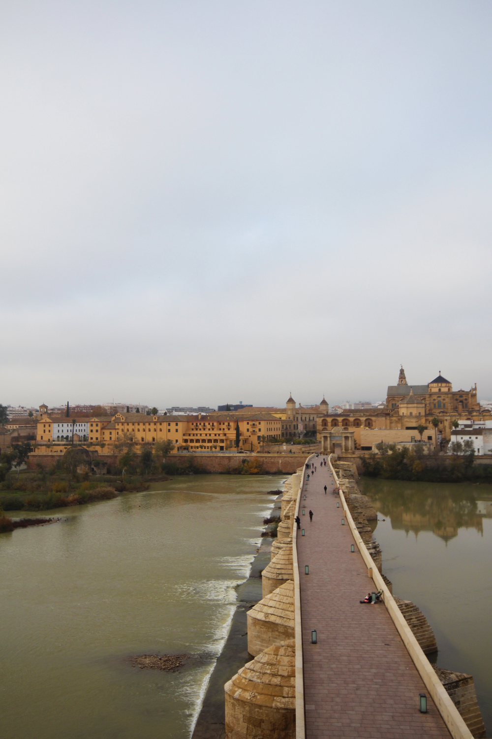 The Punto Bajada del Puente with Mosque in the background