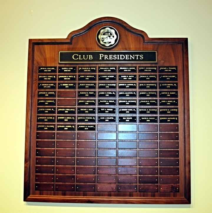 Past Presidents Plaque
