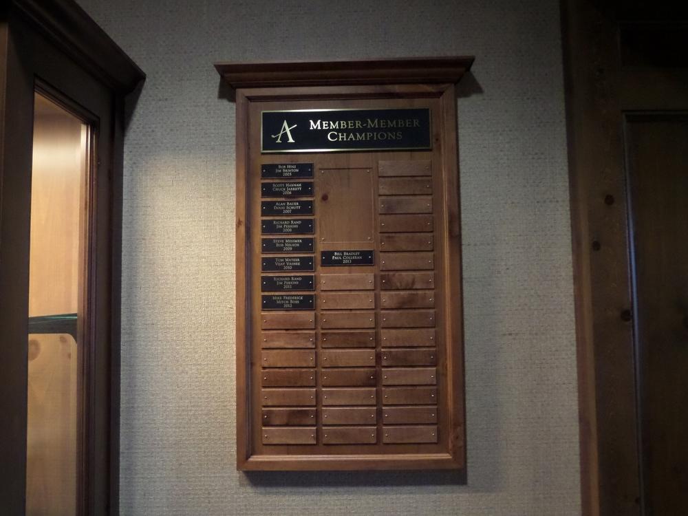 Golf Tournament Plaques