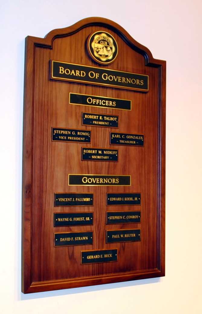 Board of Governors Plaque