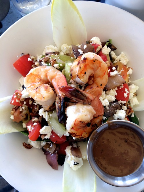 (Above) Prime Catch Shrimp Salad. Refreshing lunch on the peaceful inter coastal.