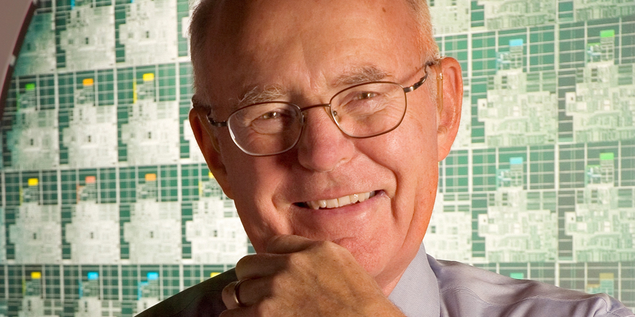 Gordon E. Moore (image courtesy of  Intel )