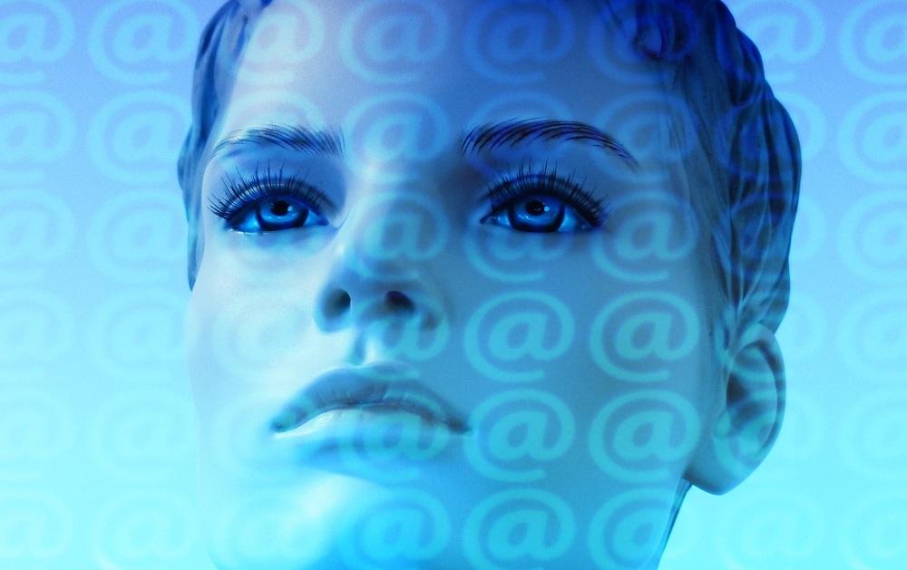 Human face on social media