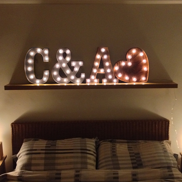 Carnival Lights in your initials