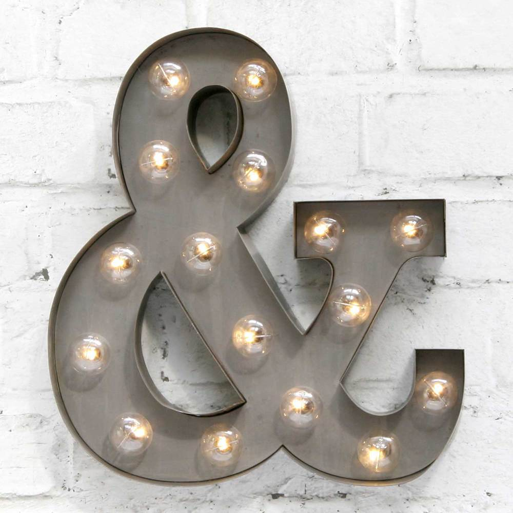 "Silver 13"" Ampersand Carnival Light"