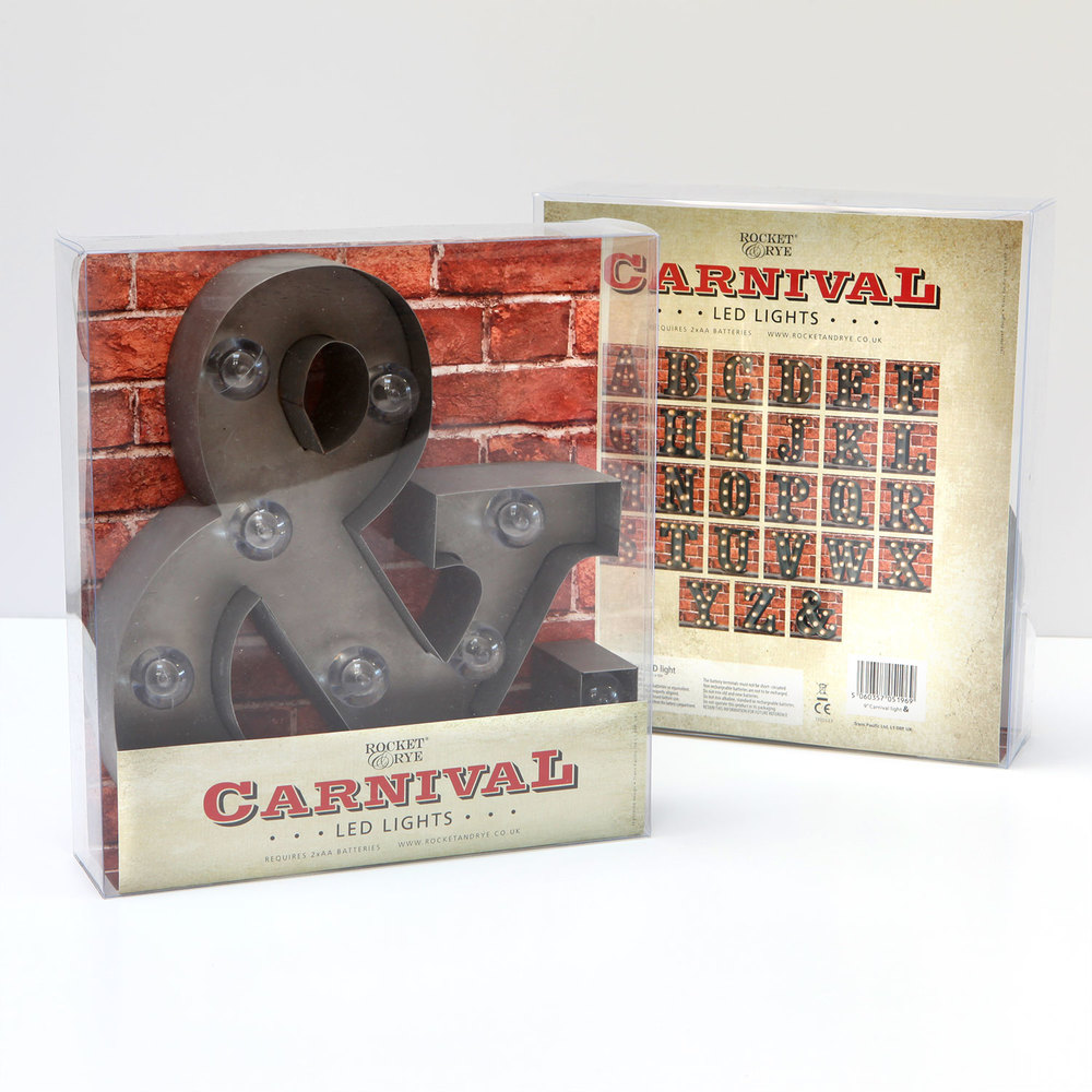 "Our 9"" Carnival Lights are standalone, just add 2xAA batteries!"