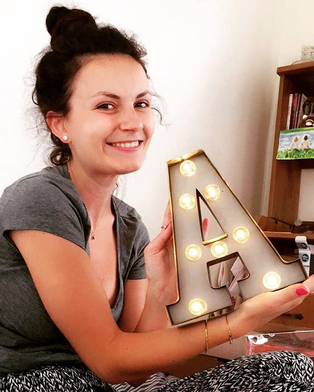 One happy customer... Our little letter A has made it all the way to Paris #rocketandrye #carnivallights #paris