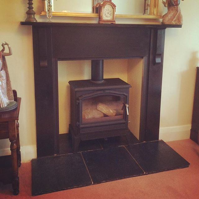 Stove and liner installation with full inglenook #fire #fireplace #stove #esse #hearth #chimney #warm #cosy